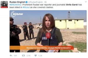 Wartawati TV Irak tewas dalam ledakan bom di Mosul