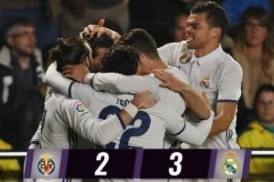 Balikkan kedudukan, Real Madrid hempaskan Villarreal 3-2