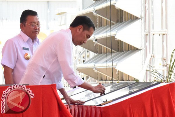 President Jokowi inaugurates Bangka`s mobile power plants