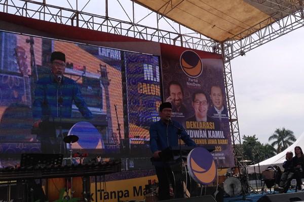 Ridwan Kamil cerita silsilah keluarga saat deklarasi cagub