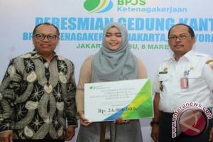 Keluarga pengojek terima santunan BPJS Ketenagakerjaan Rp24 juta