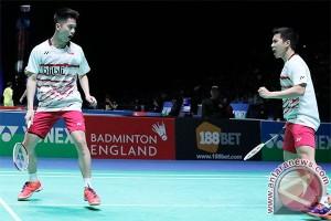 Tiga ganda putra ke perempat final Singapura Terbuka