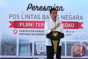 Presiden ingin PLBN tingkatkan ekonomi perbatasan