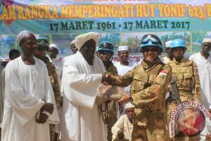 Ulang tahun di Darfur, Batalion Infantri 623/BWU salurkan bantuan