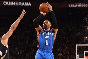 "Westbrook capai ""triple-double"" ke-34, Thunder bekuk Raptors 123-102"