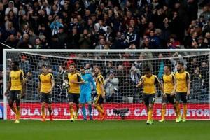 Arsenal menyerah 1-3 dari West Brom