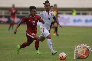 Myanmar sementara ungguli Indonesia 2-1