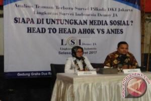 Survei: mayoritas pemilih Jakarta aktif di medsos