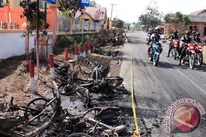 Pengamanan Lokasi Bentrok Di Jambi