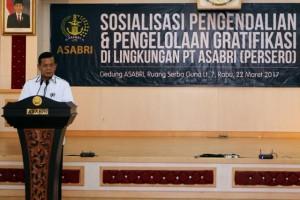 Sosialisasi pengendalian dan pengolahan gratifikasi di lingkungan PT ASABRI (Persero)