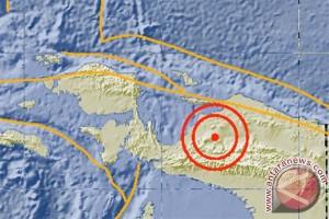 Gempa 5,0 SR di daratan Papua