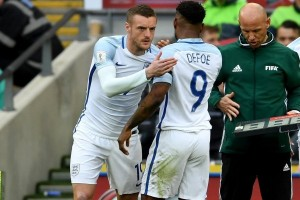 Defoe dan Vardy bawa Inggris atasi Lithuania 2-0