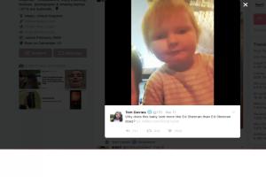 Reaksi Ed Sheeran lihat balita yang mirip dengannya