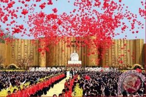 Lebih dari 10.000 warga Tionghoa berkumpul hadiri upacara pemujaan leluhur di Zhengzhou