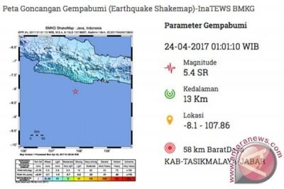 BPBD laporkan kerusakan akibat gempa Tasikmalaya