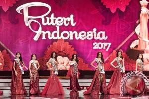 Enam besar Puteri Indonesia 2017 terpilih