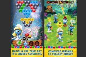 Game Smurfs Bubble Story tersedia di iOS dan Android