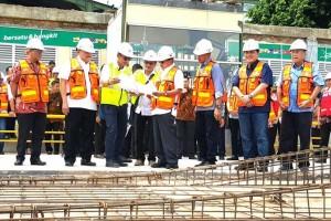 Wapres periksa jalur LRT bandara-Jakabaring