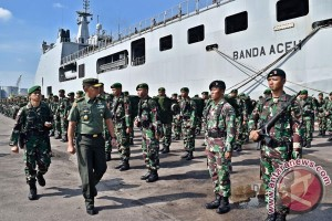 Pemberangkatan Pamtas Indonesia-Papua Nugini
