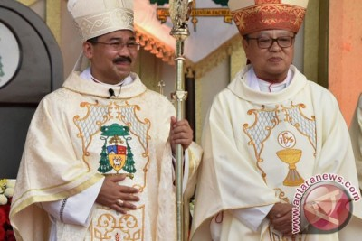 Uskup Agung Semarang silaturahmi usai sholat Ied