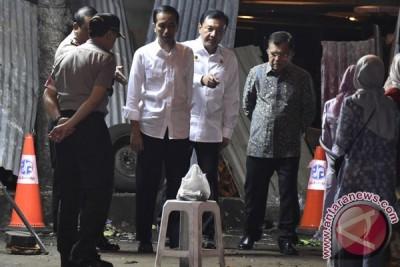 Presiden-Wapres Tinjau Lokasi Ledakan Bom