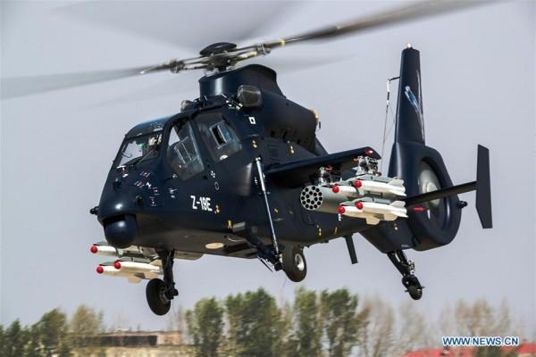 China terbangkan helikopter tempur Z-19E  buatan sendiri