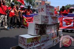 Aksi Buruh Makassar