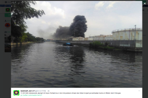 Kebakaran di depo Pertamina Lagoa tak merambat ke tangki BBM