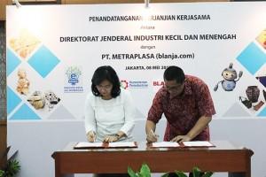 Kementerian Perindustrian gandeng Blanja.com kembangkan IKM basis digital