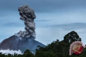Sinabung erupsi sembilan kali dalam dua hari