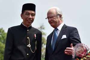Presiden Jokowi terima Raja Swedia di Bogor