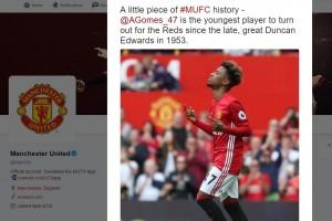 Pemain 16 tahun ini jadi debutan termuda Manchester United