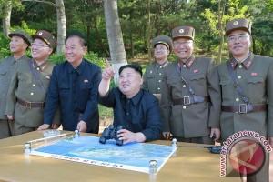Kim Jong-un pimpin uji senjata baru anti-pesawat udara