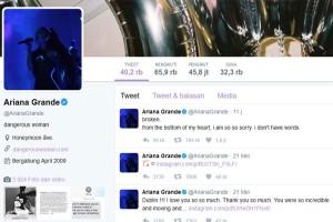 Ariana Grande merasa hancur pasca-ledakan Manchester