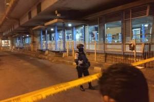 Layanan halte Transjakarta Kampung Melayu tunggu pihak kepolisian