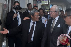 Raja Swedia dijamu Pemkot Bandung makanan  khas Indonesia