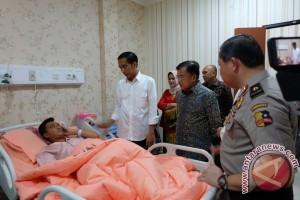 Presiden jenguk korban ledakan Kampung Melayu