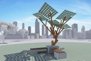 Pohon tenaga surya eTree pertama Eropa ditanam di Prancis