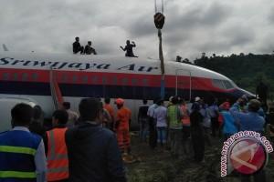 Sriwijaya tergelincir, seluruh penerbangan dibatalkan di Manokwari