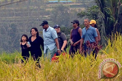 Obama berarung jeram di sungai Ayung Bali