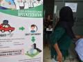 Warga meninggalkan ruang kantor usai mengecek iuran kepesertaanya di Kantor Badan Penyelenggara Jaminan Kesehatan (BPJS) Palu, Sulawesi Tengah, Senin (19/6/2017). BPJS mempermudah layanan kesehatan bagi pemudik mulai H-7 sampai H+7 Idulfitri dengan menerima pengobatan di setiap Unit Gawat Darurat (UGD) setiap rumah sakit mitranya tanpa mempersyaratkan surat rujukan. (ANTARAFOTO/Basri Marzuki)