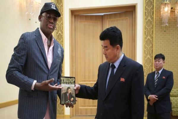 Rodman hadiahkan buku karya Trump untuk Kim Jong-Un