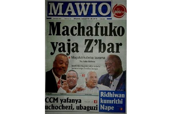 Terkait sengketa tambang, Tanzania tutup surat kabar Mawio