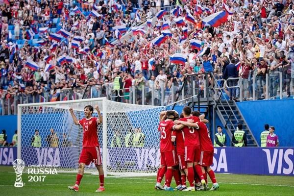 Rusia buka Piala Konfederasi dengan kemenangan 2-0 atas Selandia Baru