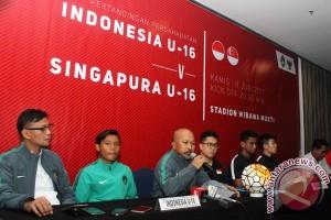 Timnas U-16 ungguli Vietnam 1-0 di babak pertama
