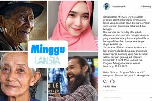 Setiap Minggu, lansia sebatang kara di Bandung akan ditemani anak muda