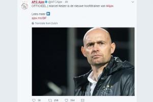 Marcel Keizer pelatih baru Ajax