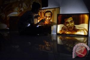 Lukisan Selotip Untuk Jokowi