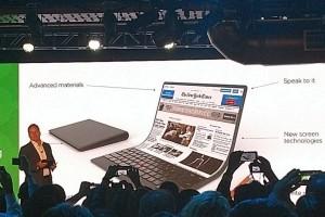 Lenovo perkenalkan konsep laptop fleksibel
