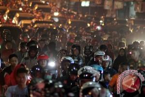 Kepadatan Malam Takbir Di Bogor